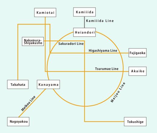 名古屋の路線図